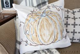 Pottery Barn Throw Pillows by Pottery Barn Inspired Pumpkin Pillow Meadow Lake Road