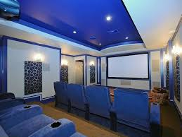eclectic home theater with carpet sound absorption panels in