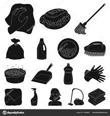 jeux de nettoyage de chambre nettoyage et femme de chambre icônes dans la collection de jeu