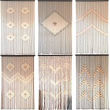 Glass Bead Curtains For Doorways by Curtains Wooden Beaded Curtains With Cool Retro Look Design