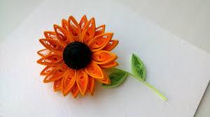 Quilling Flowers Tutorial 3D How To Make Sunflower Flower Paper Art