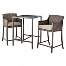 3 Piece Bar Height Patio Bistro Set by Bar Height Patio Furniture Sets Foter