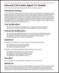 Curriculum Vitae Call Center Agent Cv Example Examples