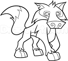 How To Draw Steps In An Animal Jam Wolf