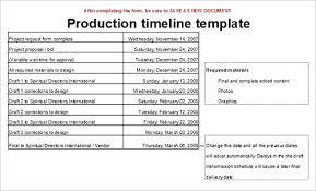 Editable Production Timeline Template Sample Event Planning Schedule Calendar