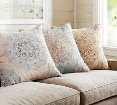 cressida medallion embroidered pillow cover pottery barn