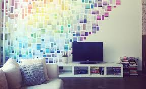 Create A Rainbow Effect Like Liz Apples Wall Of Paint Chips Or Use Swatches To Waves Patterns Color Too