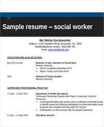 Sample Social Worker Resume
