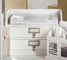 Pottery Barn Office Desk Accessories by Bedford Two Drawer Paper Organizer Antique White From Pottery