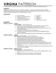 Restaurant Manager Resume Examples Cashier Sample My Perfect Resumes