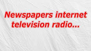 Newspapers internet television radio Crossword CodyCross
