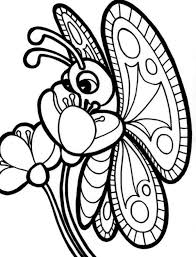 Butterfly On Flower Coloring Pages