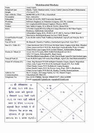 Matrimonial Resume Format Biodata For Marriage Template