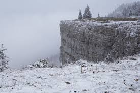 Mountain Snow Winter Fog White Cliff Ice Weather Terrain Season Ridge Trees Mountains Switzerland Jura Freezing