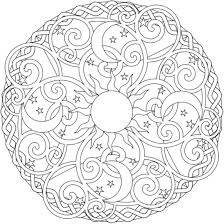 Printable Mandala Coloring Pages Download Print Sun Moon Stars Free Colouring Christmas Easy Full Size