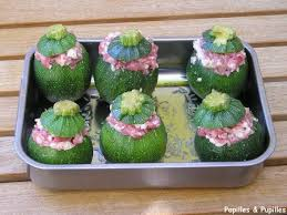 cuisiner courgette ronde courgettes rondes farcies