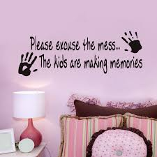 Child Handprints Vinyl Wall Decal Quotes Kids Room Bedroom Decor Diy Art Mural Removable Stickers In From Home Garden On Aliexpress