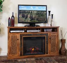 Image Of Rustic Electric Fireplace Decor