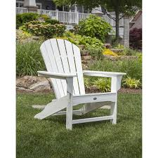 Lowes Canada Adirondack Chairs by Shop Trex Outdoor Furniture Cape Cod 1 Count Classic White Plastic