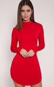 high neck dresses roll neck u0026 choker dress prettylittlething