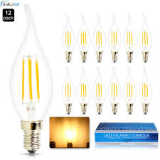 elinkume 2w candelabra led bulbs 20w light bulbs equivalent led