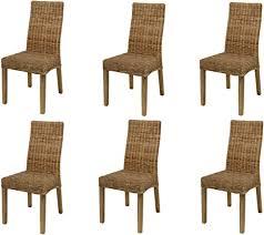 korb outlet 6er set moderne esszimmerstühle aus natur rattan