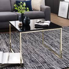 finebuy couchtisch ravi 60 x 50 x 60 cm metall holz sofatisch schwarz design wohnzimmertisch quadratisch stubentisch mit metallgestell