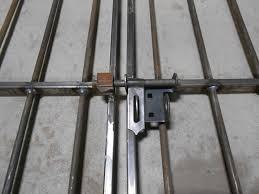4 tall x 5 wide Center Divide Wrought Iron Gate