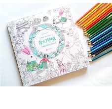 New Arrival Fashion Fantasy Dream Secret Garden Style Rabit Drawing Book Coloring Books For Adults Children Christmas Gifts In From Office School