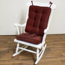 100 Rocking Chair Cushions Sets Inspirations White Wooden With Back And Carving Arms Complete With