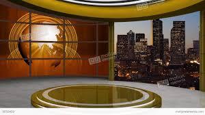 News TV Studio Set 105