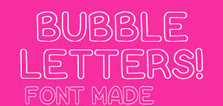 18 Bubble Letter Fonts Free TTF OTF Format Download