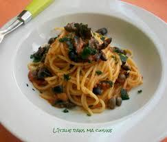 pates a la puttanesca spaghetti à la puttanesca l italie dans ma cuisine
