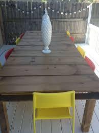 diy outdoor dining tables the garden glove