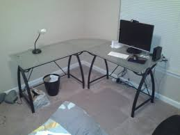 Awesome fice Depot L Shaped Desk 291 Highest Rated Glass L