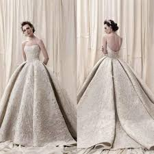 Arab Dubai Lace Ball Gown Wedding Dresses Full Embroidery Beads Sequins Luxury 2018 Dress Train Sweetheart Vintage Bridal Gowns