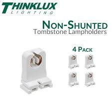 Non Shunted T8 Lamp Holder by Non Shunted Rapid Start Tombstones For Led T8 Conversions