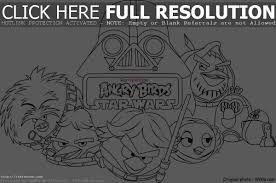 Printable Angry Birds Star Wars Coloring Page Pages