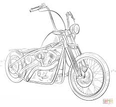 Click The Chopper Motorcycle Coloring Pages To View Printable