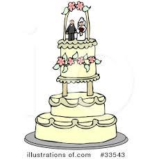 Royalty Free RF Wedding Cake Clipart Illustration by djart