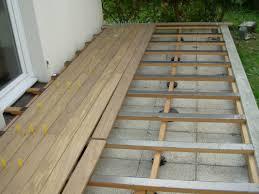 fabrication terrasse en composite sur dalle beton