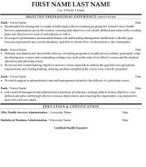 Health Service Coordinator Resume Free Picture Samples