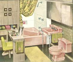 Retro Pink Bathroom Decor by The Color Pink In Bathroom Sinks Tubs And Toilets From 1927