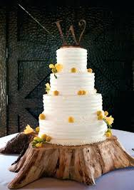Rustic Wedding Cake Stand Raspberry And Yellow Cakes Make A Statement With Stands Wooden