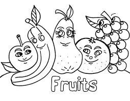 Coloring Pictures Fruits Book Pages Fruit Bowl Full Size