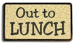 Amazon Out To Lunch Wood Sign 6x10 Inches Home Kitchen