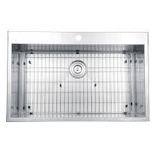 Overmount Double Kitchen Sink by Ruvati Rvh8000 Drop In Overmount 33
