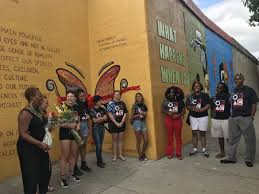 Big Ang Mural Unveiling by Dozens Turn Out For Official Unveiling Of Mural Made By Young West