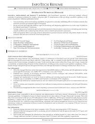 Resume Examples For Information Technology Manager Feat A It Samples Produce