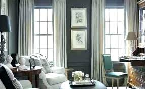 Dark Gray Curtains For Grey Room Color Walls Curtain Dining